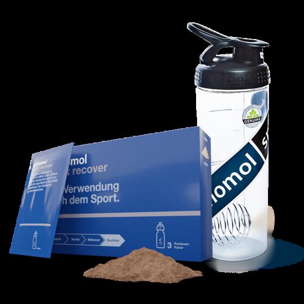 Shaker + 3er Orthomol Sport recover